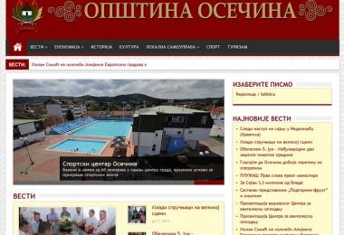Opštinska uprava Osečina izrada web sajta