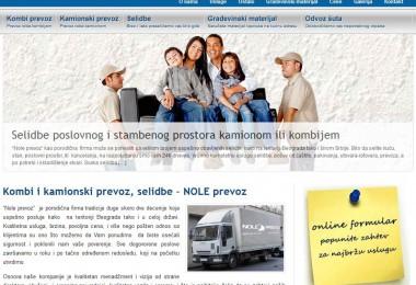 Optimizacija sajta kombi i kamionski prevoz