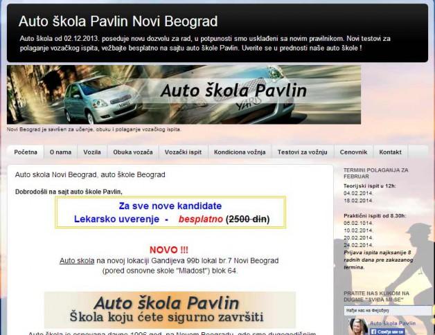 Auto skola optimizacija sajta