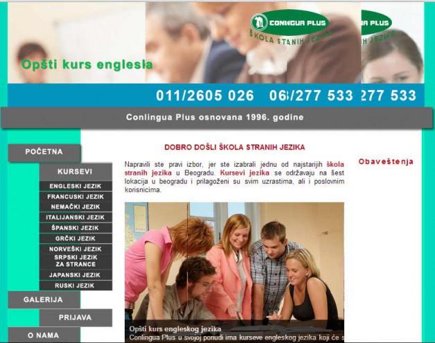 Skola stranih jezika – optimizacija sajta