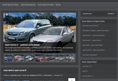 Izrada sajta auto delovi opel