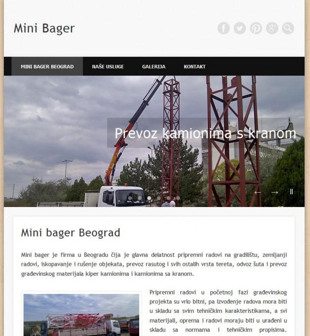 Izrada sajta mini bager Beograd