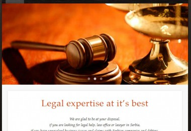 Law office in Serbia – SEO, izrada sajta
