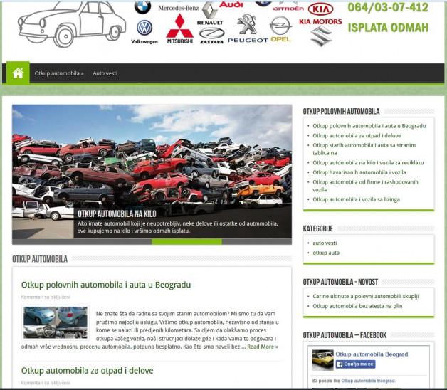 Optimizacija sajta i izrada – otkup automobila